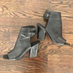 Via Spiga open toe heeled booties sz 8 ½